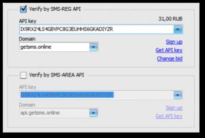 Work with GetSMS.online by SMS-REG API