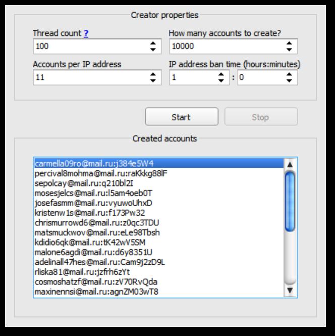 New Creator tab interface