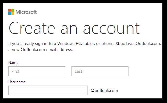 Outlook.com - единственный доступный домен