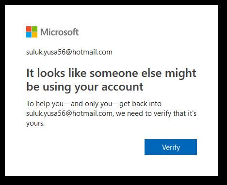Alternative unlocking Outlook account form