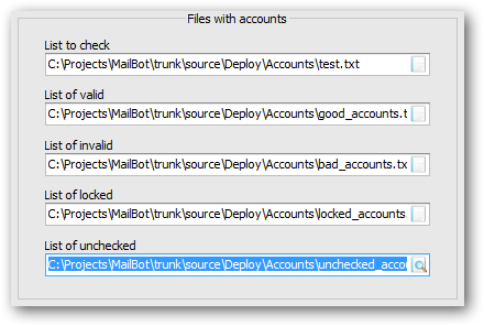 New setting to specify the path to unchecked accounts list